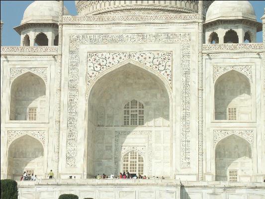Pict3901 taj mahal marble entrance agra